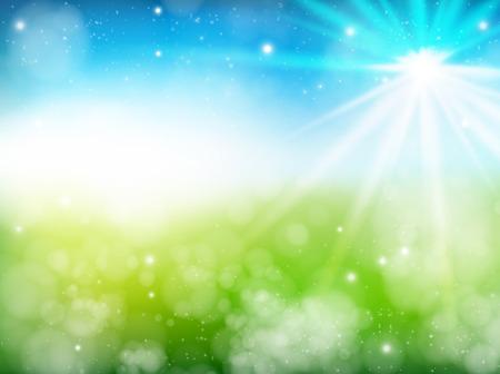 El comienzo del verano fondo verde fresca
