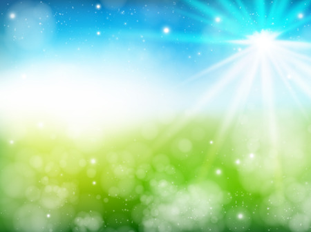 Early summer fresh green background