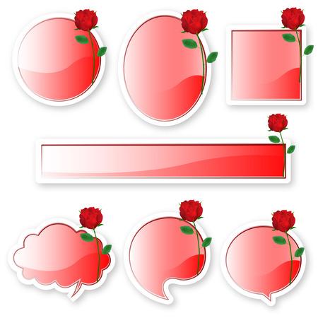 バラのフレーム アイコン  イラスト・ベクター素材