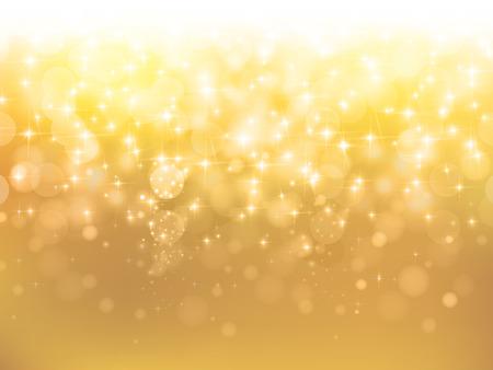 ゴールドの背景に光