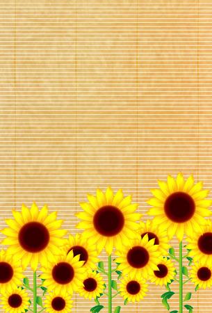 sympathy: Sunflower summer greeting background Illustration