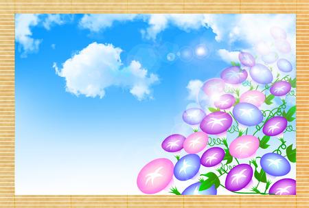 glory: Morning glory summer greeting background Illustration
