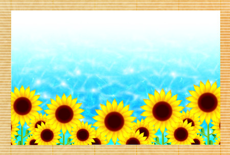 Sunflower summer greeting background Vectores