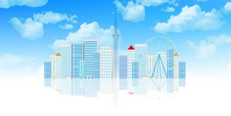 building: Building Building Tokyo Illustration