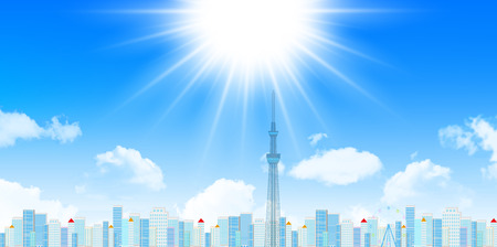 tokyo: Sky Tree and tokyo buildings Illustration