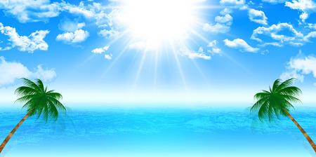 海パーム背景