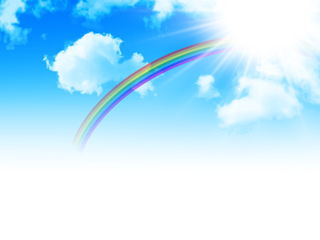 Sky rainbow background Ilustrace