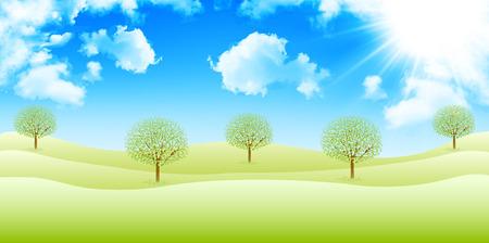 grasslands: Sky early summer background