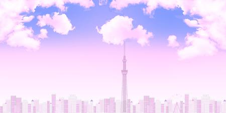 Tokyo Himmel Hintergrund