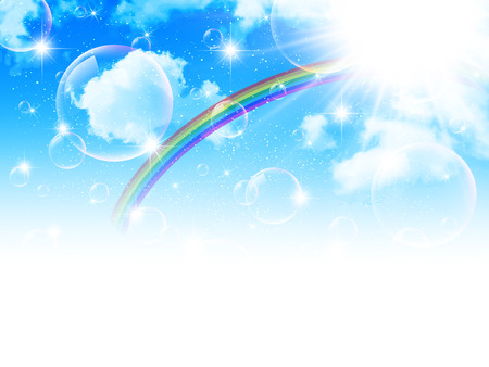 Sky rainbow background Illustration