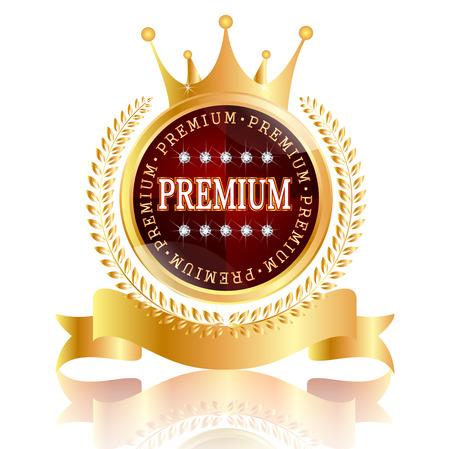 Premium crown medal