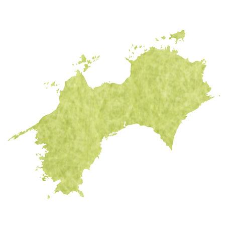 Shikoku Map icon Illustration