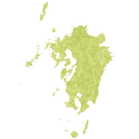kyushu: Kyushu Map icon Illustration