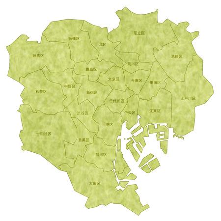 東京地図  イラスト・ベクター素材