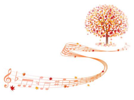 Клен осенние листья сведению Иллюстрация
