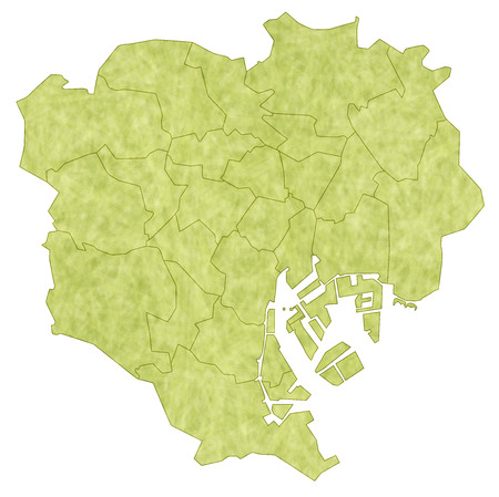 municipalities: Tokyo map
