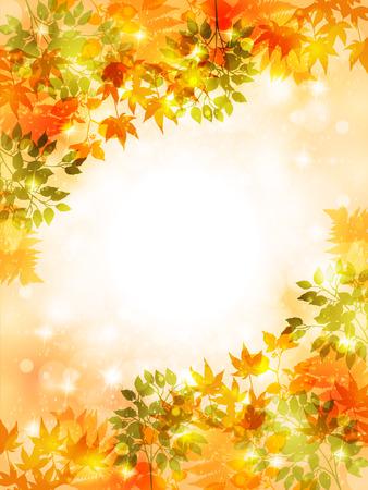 メープルの紅葉背景  イラスト・ベクター素材