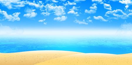 playas tropicales: Mar de fondo de arena