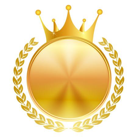 Crown medal frame Illustration