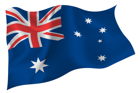 bandiera: Australia flag Bandiera Vettoriali