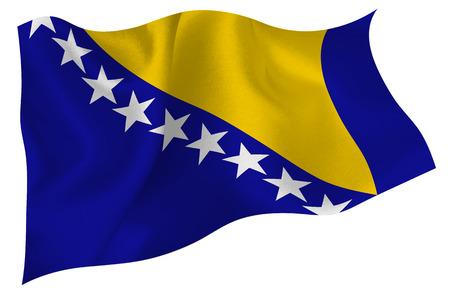 bosnia and herzegovina: Bosnia Herzegovina flag flag Illustration
