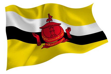 brunei: Brunei national flag flag Illustration