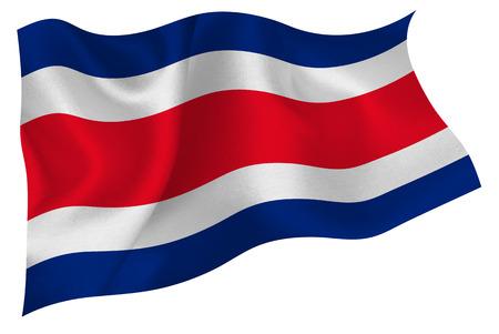 bandera de costa rica: Costa Rica flag Vectores
