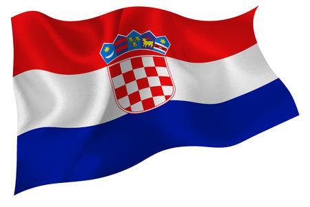 bandera de croacia: Croacia flag Vectores