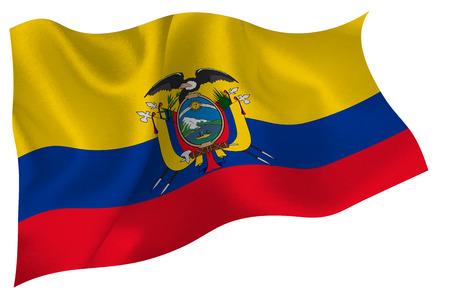 ecuador: Ecuador national flag flag Stock Illustratie