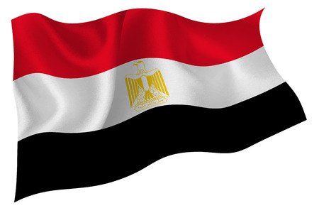 egypt flag: Egypt flag flag Illustration