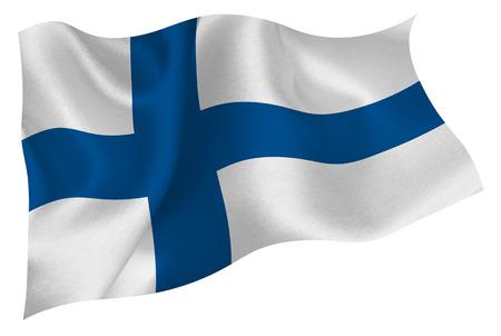 フィンランドを旗します。