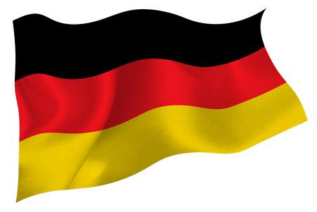 De vlag van Duitsland vlag Stock Illustratie