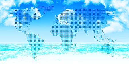 世界地図の海の背景