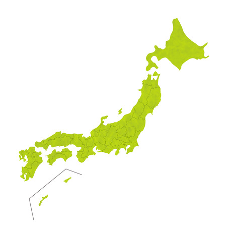 Japon icône de carte Banque d'images - 41492984