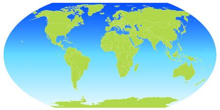 the world: World map globe