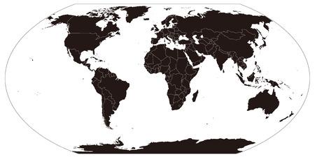Mapa del globo del mundo Vectores