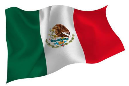 bandera mexico: Bandera de la bandera de M�xico Vectores
