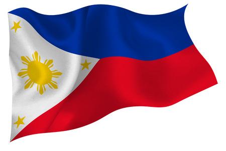 Philippines flag flag Иллюстрация