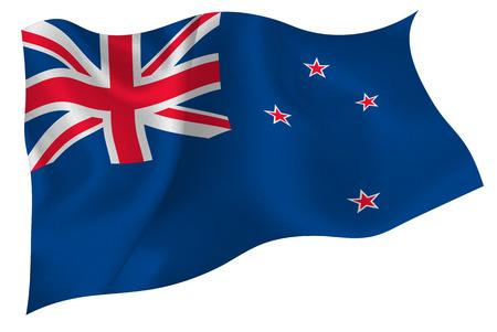 zealand: New Zealand national flag flag