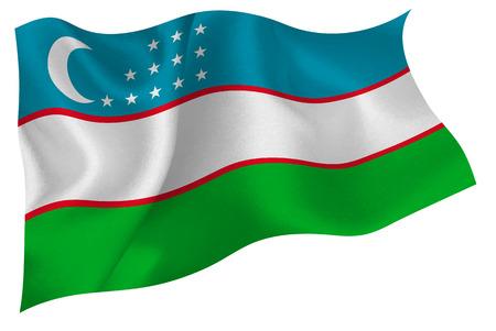 oezbekistan: Oezbekistan nationale vlag vlag