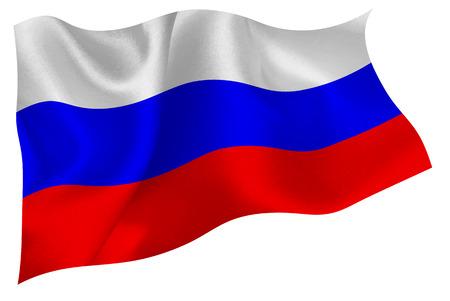 Russische nationale vlag vlag Stock Illustratie