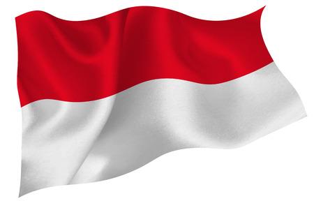 Indonesien flag flag Standard-Bild - 41615017