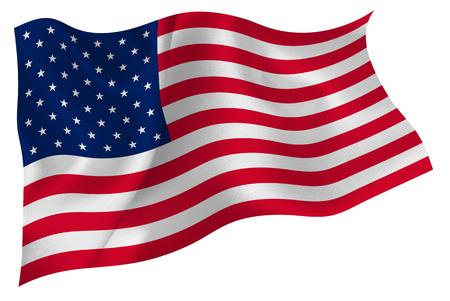 American Flag Flag Standard-Bild - 41615020