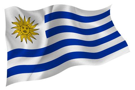 bandera de uruguay: Min: Uruguay Vectores