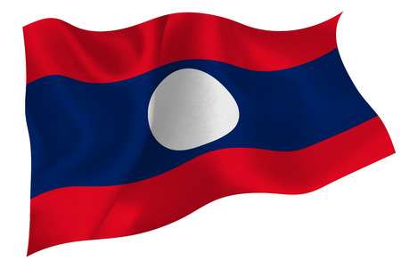 Laos national flag flag