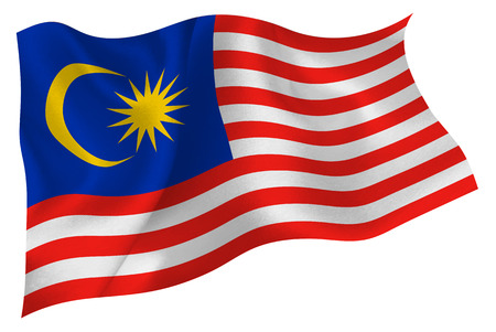 マレーシアを旗します。  イラスト・ベクター素材