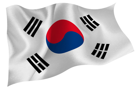 south korea flag: South Korea national flag flag Illustration