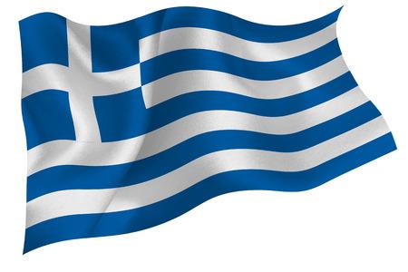 Griechenland Nationalflagge Flagge Standard-Bild - 41616079