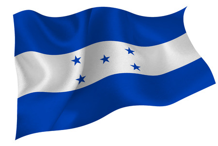 honduras: Honduras national flag flag Illustration