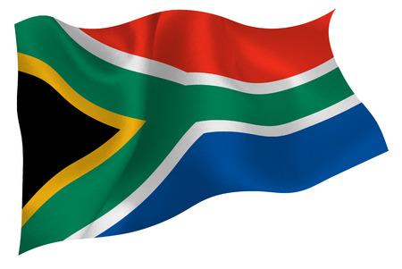 Südafrika flag flag Standard-Bild - 41616081